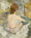 La Toilette by Toulouse-Lautrec