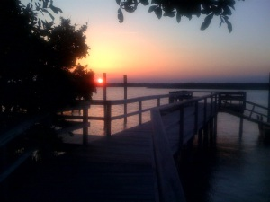 Topsail Island sunset May 2009