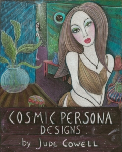 Cosmic Persona Designs with title