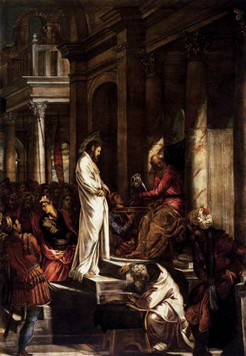 """Tintoretto, """"Christ before Pilate"""""""