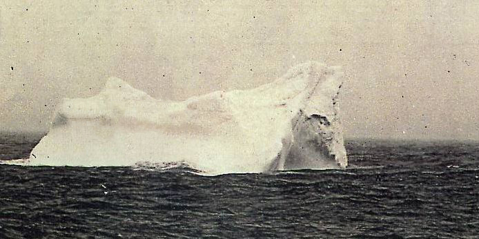 This is supposedly a photo of the iceberg rammed by the 'Titanic'--who knew?! Photo by Stephan Rehorek {{PD}}