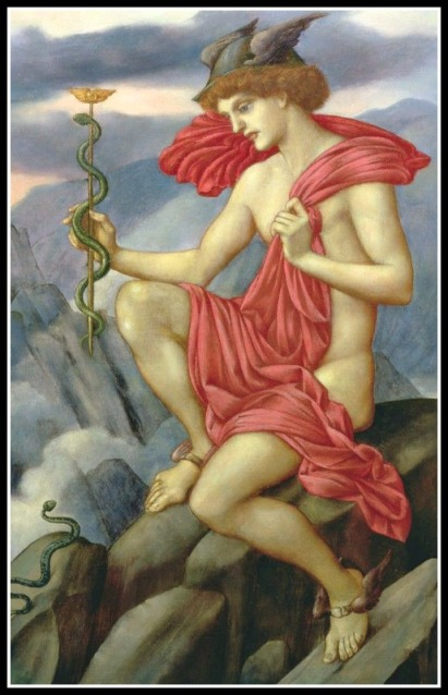 """Mercury"" by Evelyn De Morgan. 1873"