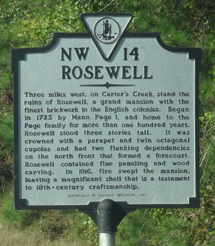 rosewell sign Mann Page